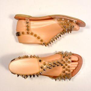 Jeffrey CAMPBELL Gold Studded Sandals Sz 7